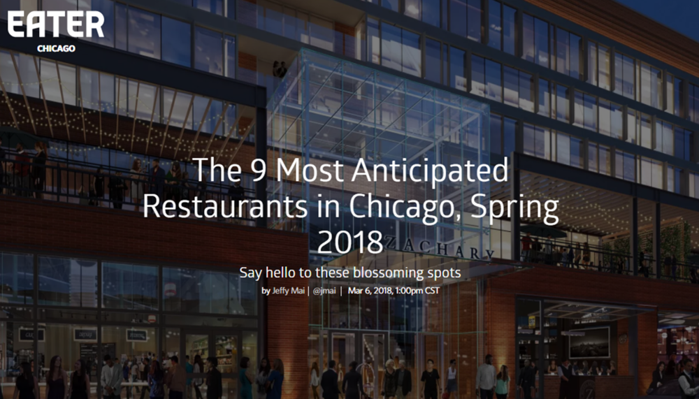 Check out our mention in the Wells St. Market section of the    article!              From Eater Chicago, Mar 6, 2018 -  https://chicago.eater.com/2018/3/6/17079112/best-new-restaurants-chicago-opening-spring-2018