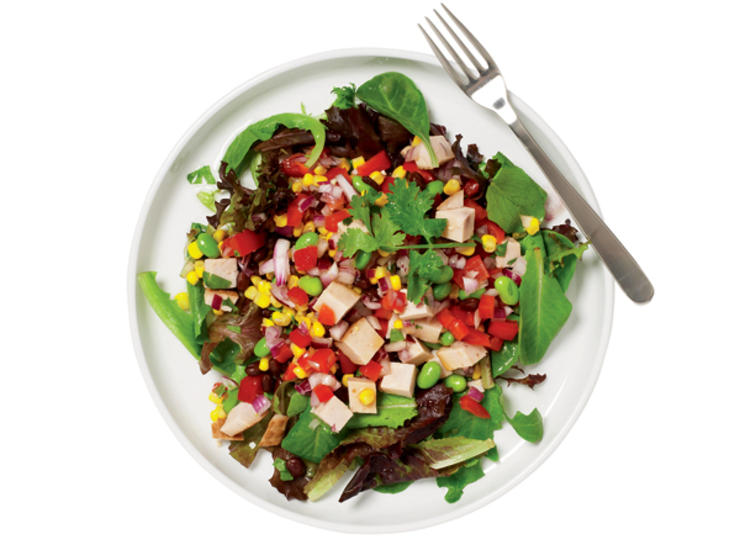 Smoked Turkey, Black Bean and Edamame Salad by The Editors at Prevention.com