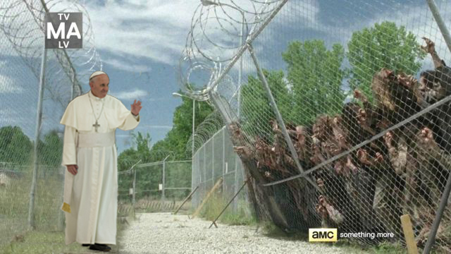 Walking Pope Fence