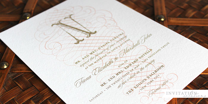 Letterpress Invitation- UMI_ELUM