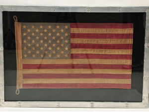 shadow box with a vintage U.S. flag design by Halo Styles