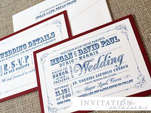 megan + david paul . vintage style invitation