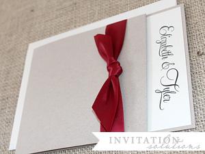 elizabeth + tyler . linen inspired pocket invitation