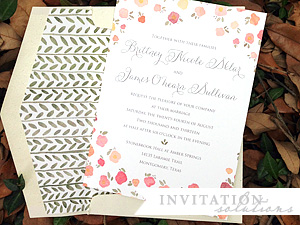 hand painted watercolor invitation