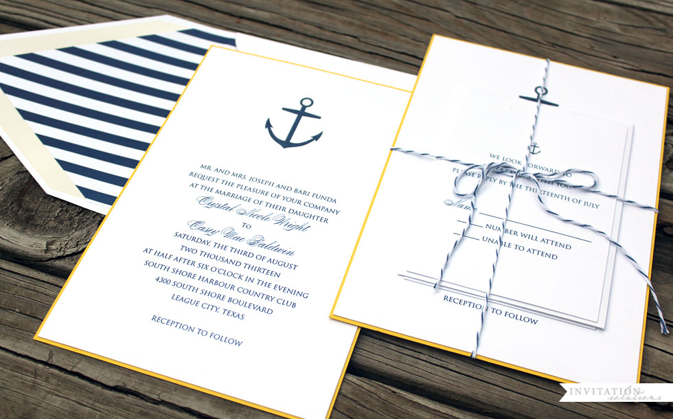 Checkerboard invitations wedding guitarreviews nautical inspired wedding invitation solutions invitations stopboris Gallery