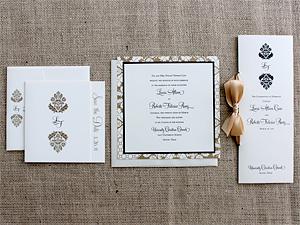 monogrammed invitation suite