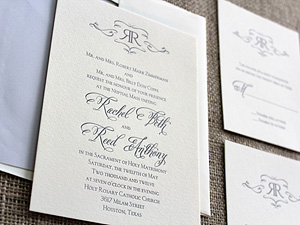 gray ink invitation