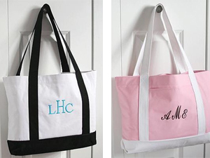 bridesmaid tote bag gift
