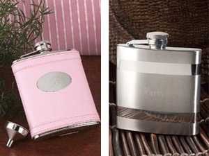 wedding party flask gifts
