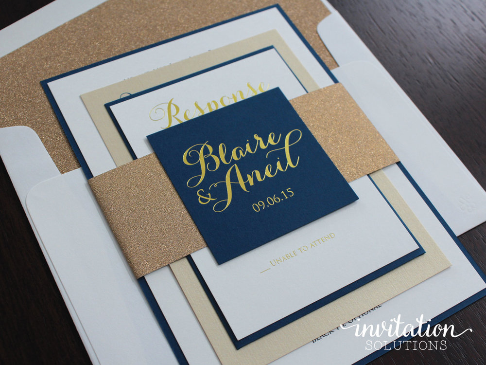 Blaire aneil invitation solutions invitation navy goldg stopboris Gallery