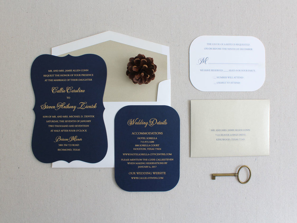 Callie steven invitation solutions invitation navyandgoldfoilg stopboris Gallery