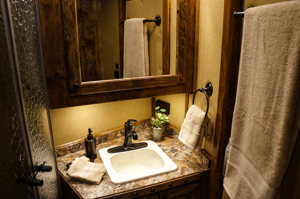 Standard Almond Sink with Bronze Faucet