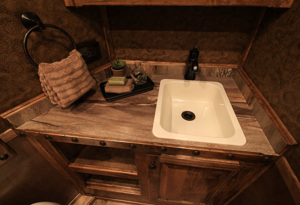 Stnd. Almond with Tuscan Bronze Faucet