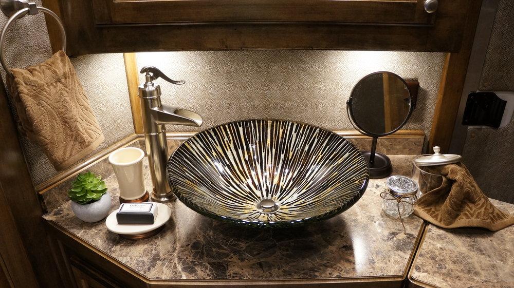 Vessel Sink with Nickel Faucet