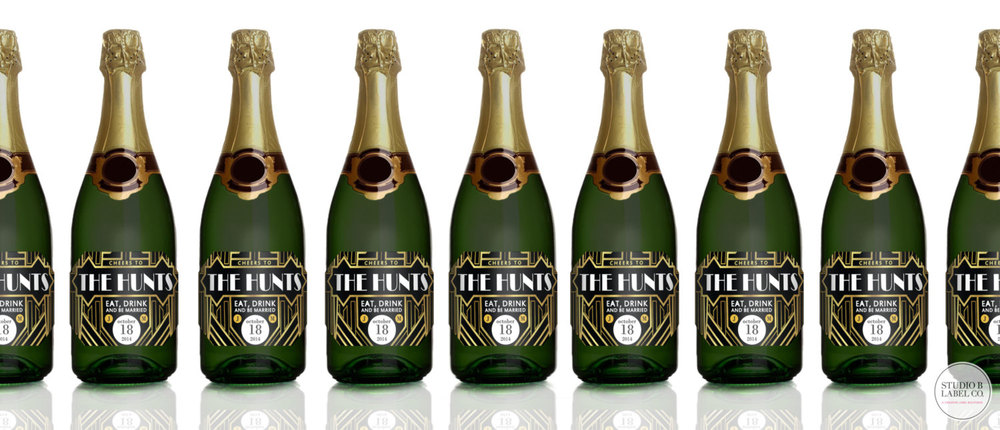 Gatsby Mini Champagne Label Wedding Favors 1920s Party Label