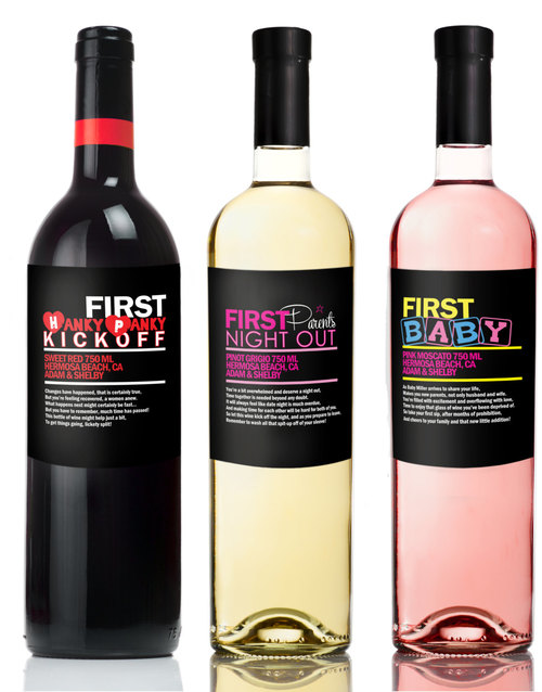 Funny Baby Shower Wine Labels Unique New Parent Gift Milestone