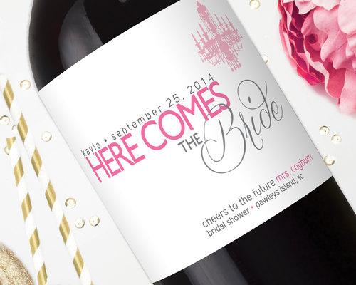 bridal shower wine labels gift for the bride shower chandelier