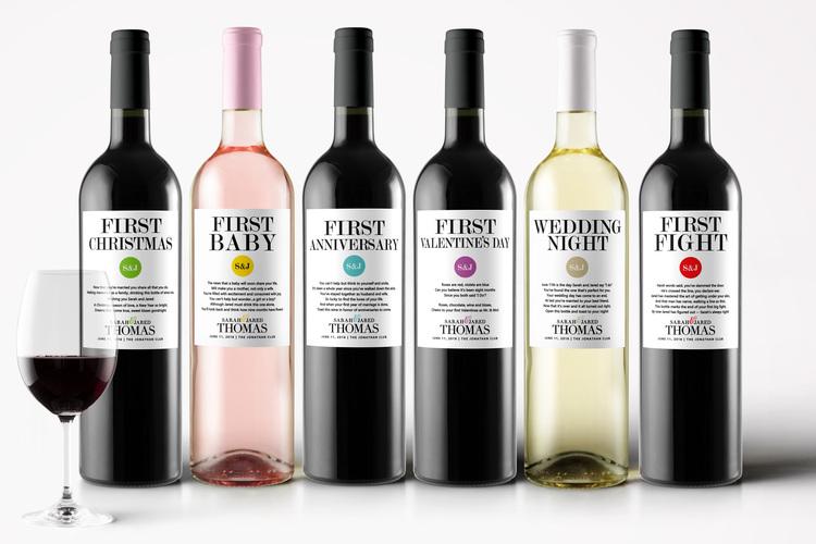 Wedding Milestone First Wine Labels — STUDIO B LABELS