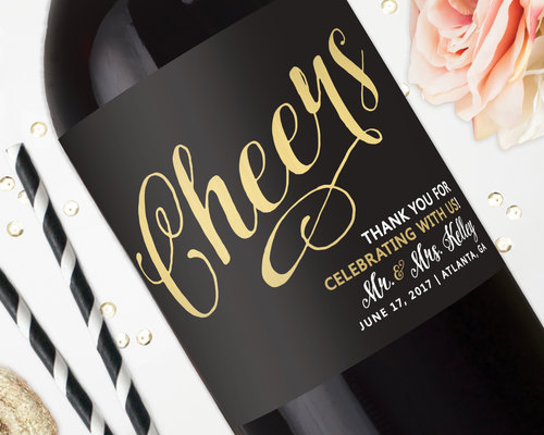 wedding favor wine labels wedding centerpiece champagne labels cheers