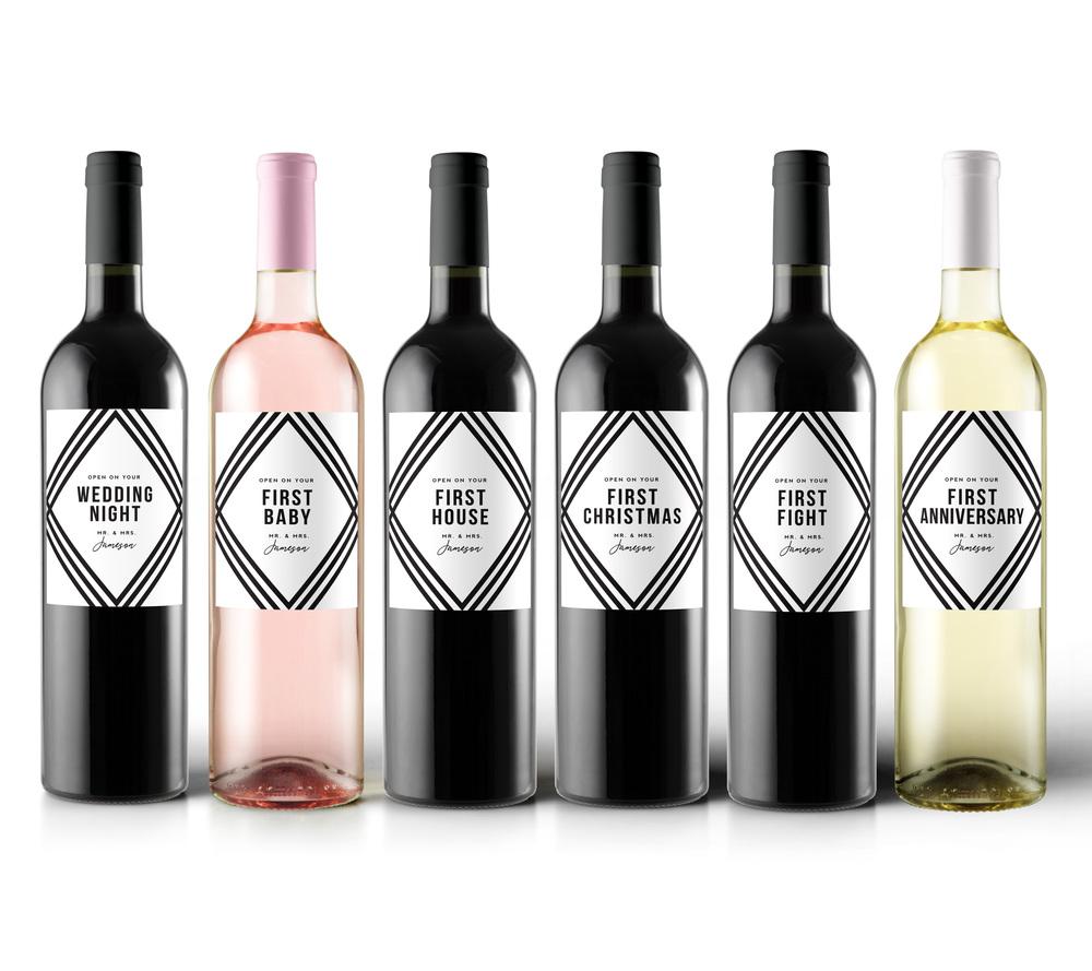 Wedding Milestone Wine Labels Unique Wedding Gifts: Wedding Milestone Wine Labels