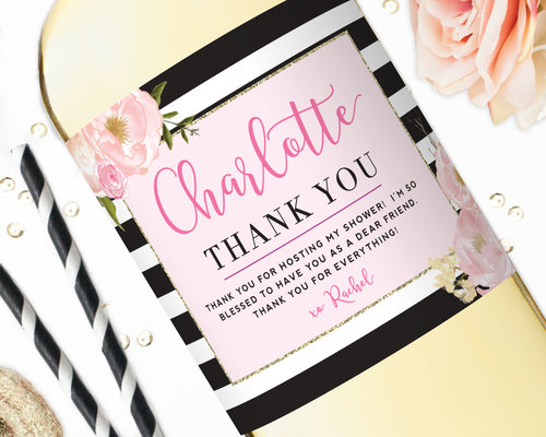 thank you gift wine label hostess gift a note of thanks studio