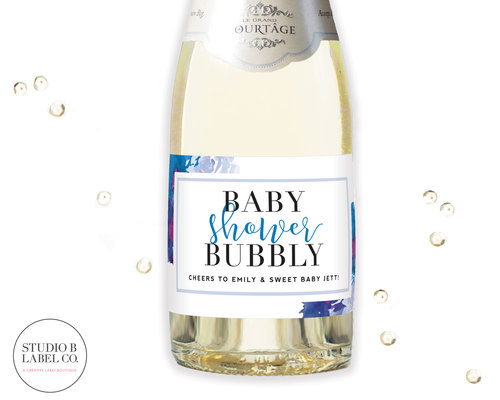 Baby Shower Favor Mini Champagne Labels Baby Shower Bubbly