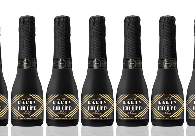 Wedding Favor Mini Champagne Labels - A Little Party — STUDIO B LABELS