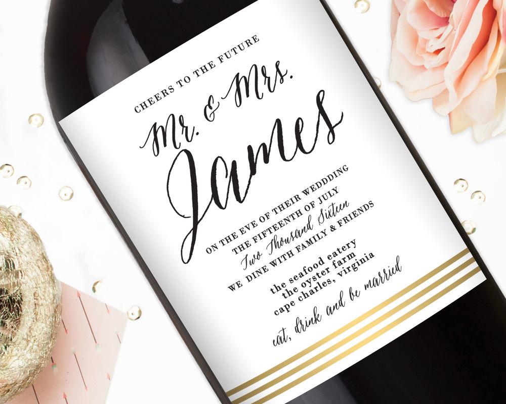 Rehearsal Dinner Wine Labels - Rehearsal Dinner Favors - Elegant ...