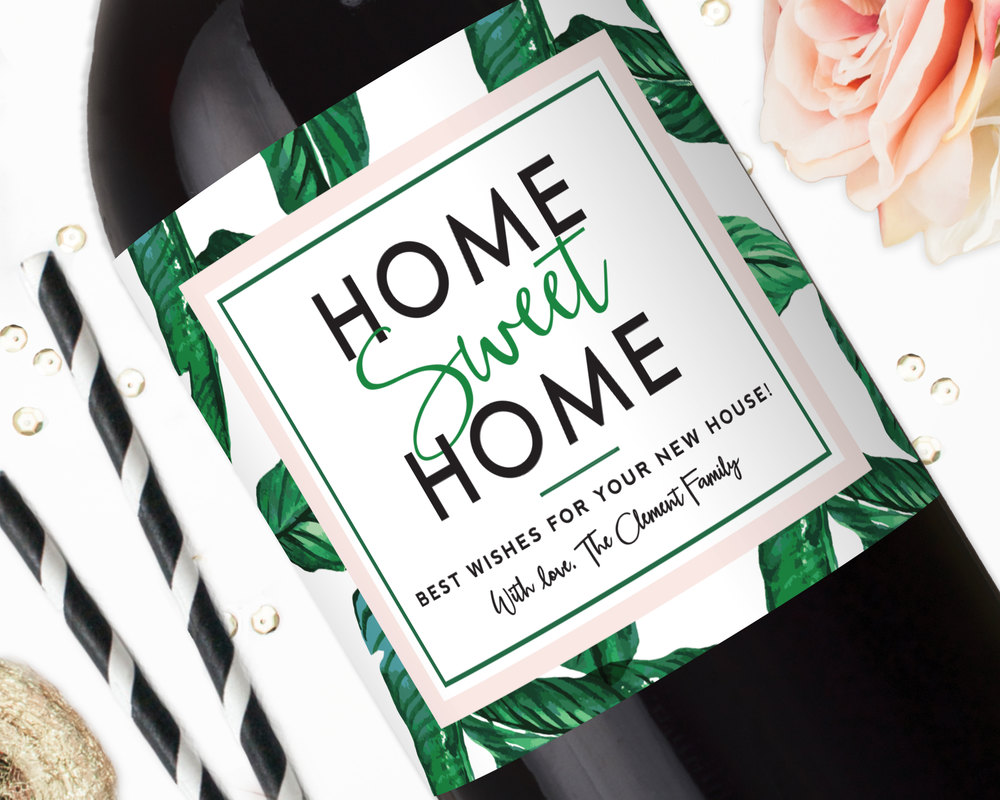 congratulations on your new home champagne label