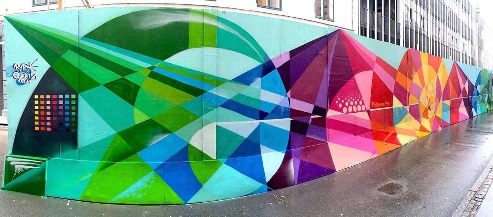 Commissioned Large-scale Mural for Byens Hegn Kobenhavns Metro | Copenhagen Denmark, 2014