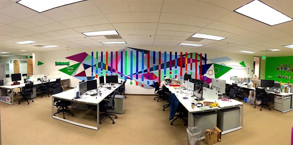 Commissioned Office Mural 4 for Techcode | Mountain View USA, 2015