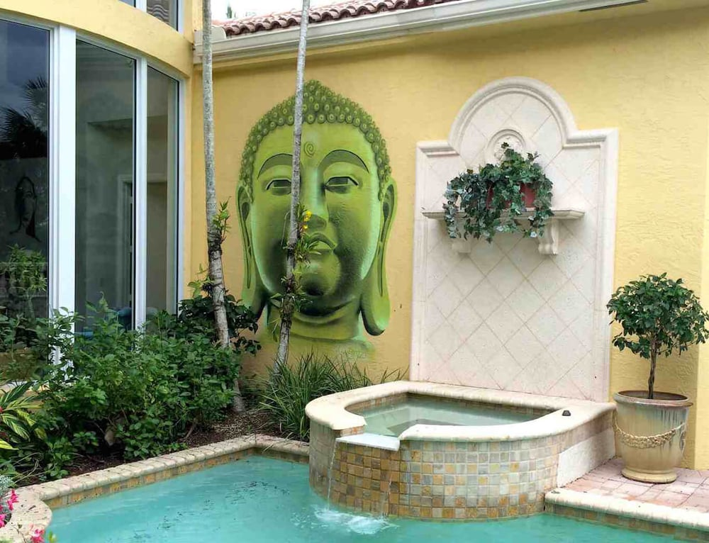 Private Commissioned Buddha Mural | Miami USA, 2014