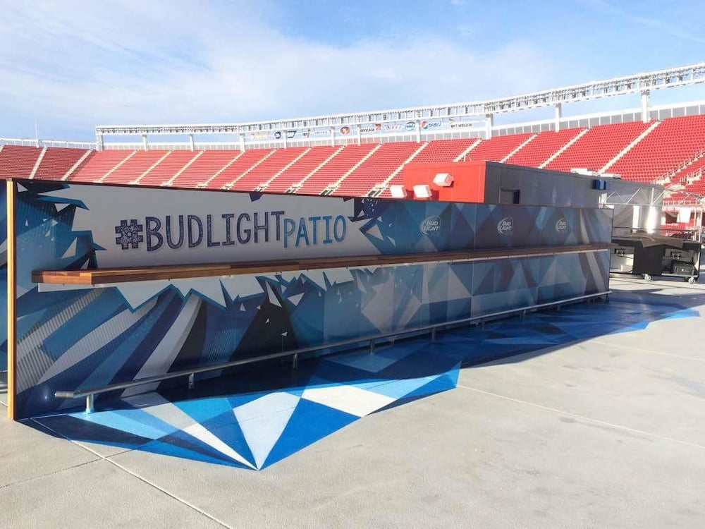 Commissioned Floor Mural for GPJ | Levi's Stadium, Santa Clara USA, 2015