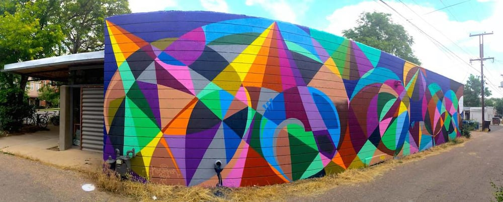 Commissioned Outdoor Mural for Barrett Studio Architects | Boulder USA, 2014