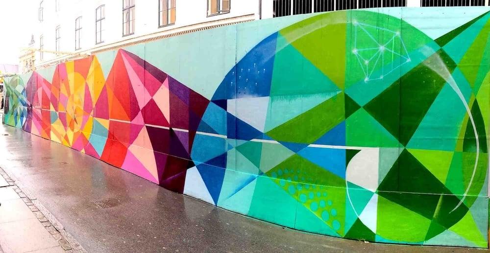 Commissioned Outdoor Mural 3 for Byens Hegn Kobenhavns Metro | Copenhagen Denmark, 2014