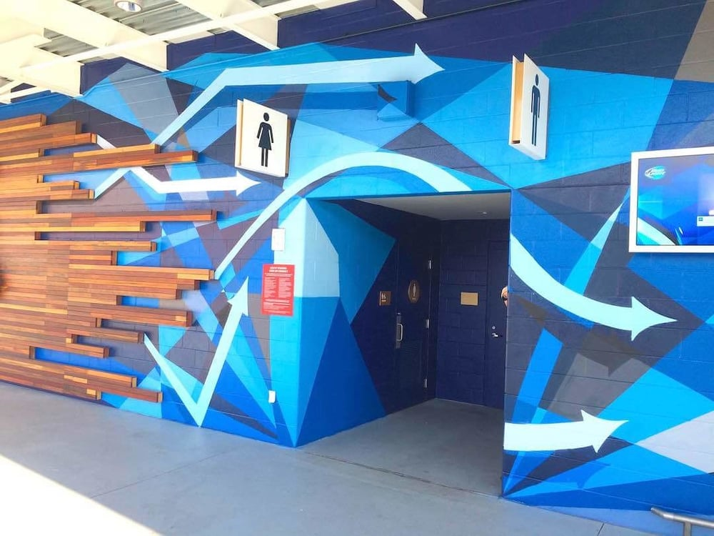 Commissioned Outdoor Mural 12 for GPJ | Levi's Stadium, Santa Clara USA, 2015