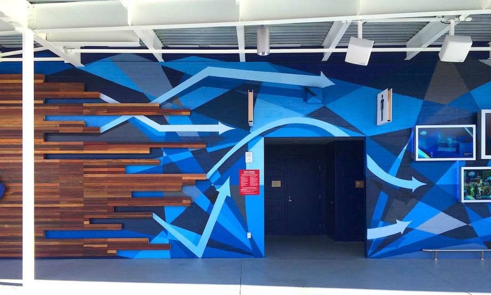 Commissioned Outdoor Mural 13 for GPJ | Levi's Stadium, Santa Clara USA, 2015