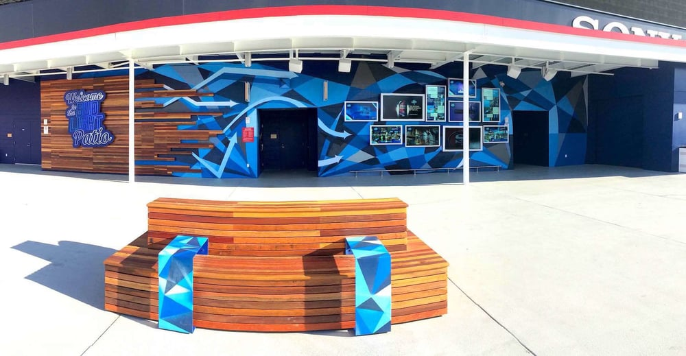Commissioned Large-scale Mural 2 for GPJ | Levi's Stadium, Santa Clara USA, 2015