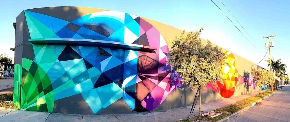 Urban Contemporary Mural for Art Basel | Wynwood USA, 2014