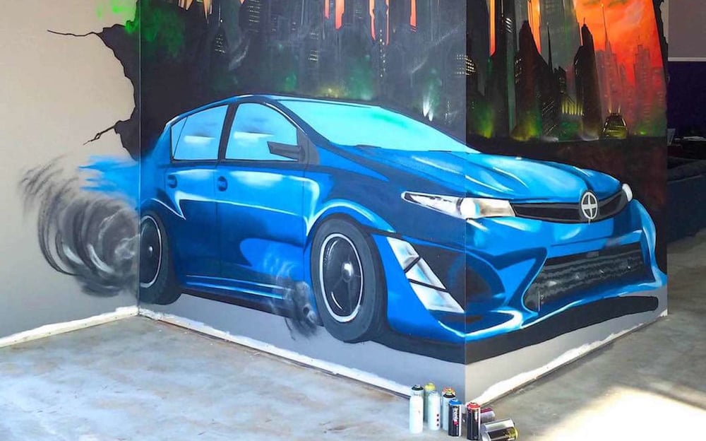 Commissioned Showroom Mural for Scion | San Jose USA, 2015