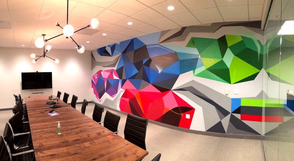 Commissioned Office Mural for Le Eco | San Jose USA, 2016