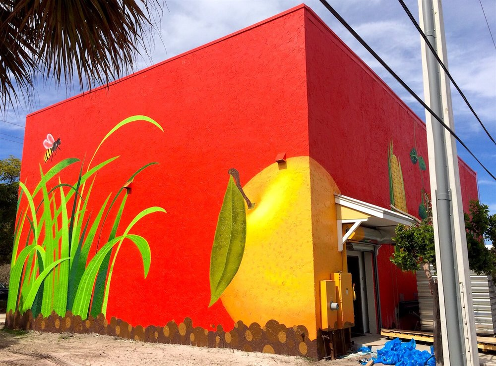 Commissioned Exterior Mural 4 for Bedners | Delray Beach USA, 2016