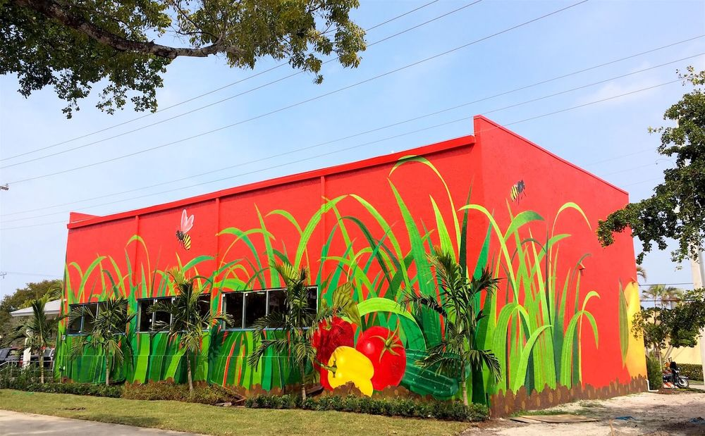 Commissioned Large-scale Mural for Bedners | Delray Beach USA, 2016