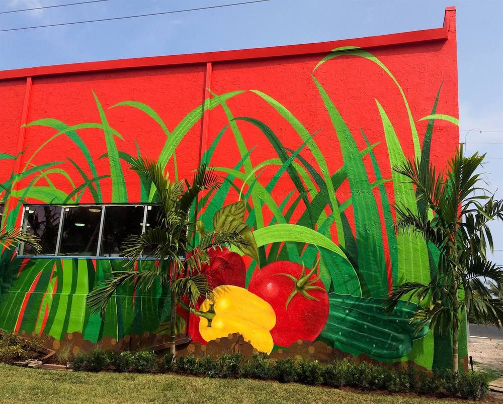 Commissioned Exterior Mural 5 for Bedners | Delray Beach USA, 2016