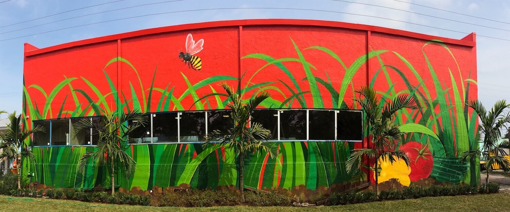 Commissioned Exterior Mural 3 for Bedners | Delray Beach USA, 2016