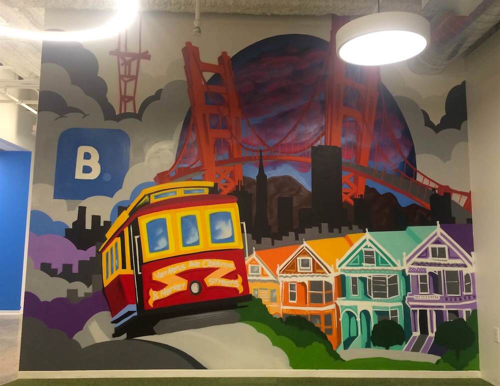 Commissioned Office Mural 5 for Bookings.com | San Francisco USA, 2016