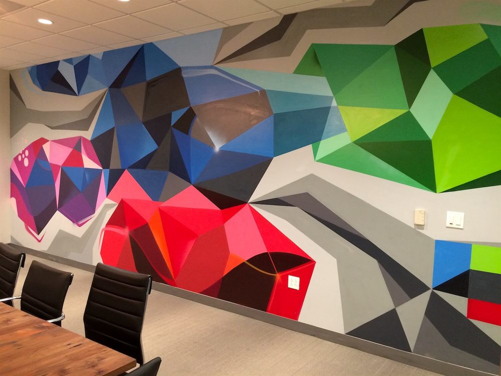 Commissioned Office Mural 7 for Le Eco | San Jose USA, 2016