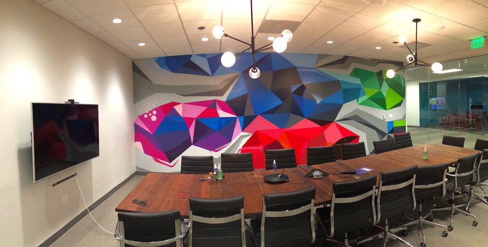 Commissioned Office Mural 5 for Le Eco | San Jose USA, 2016
