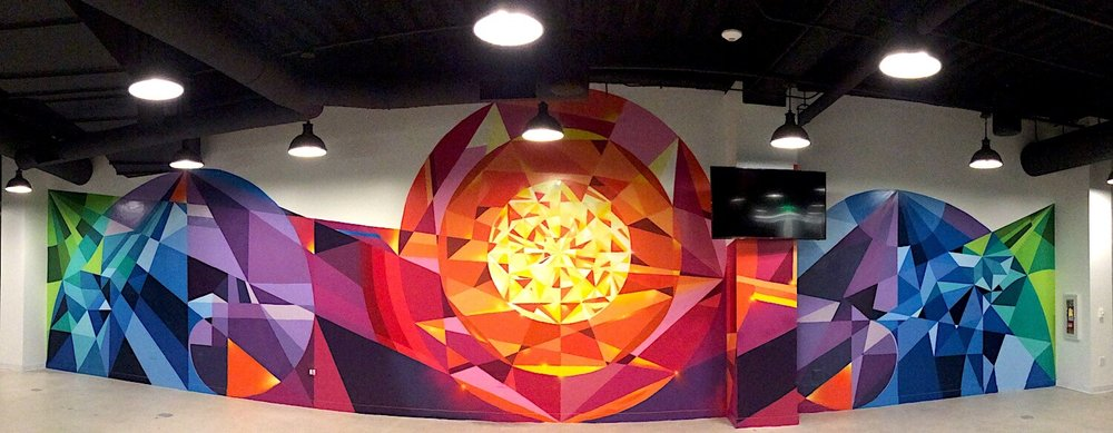 Commissioned Large-scale Office Mural for EndemolShine | Los Angeles USA, 2016Commissioned Office Mural for IronSource | San Francisco USA, 2016