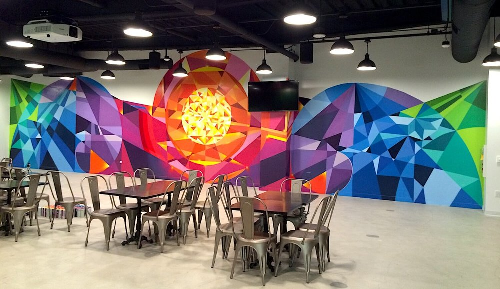 Commissioned Interior Mural for EndemolShine | Los Angeles USA, 2016